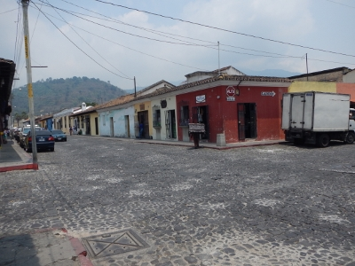 The typical street scene as shown here in             Antigua Guatemala